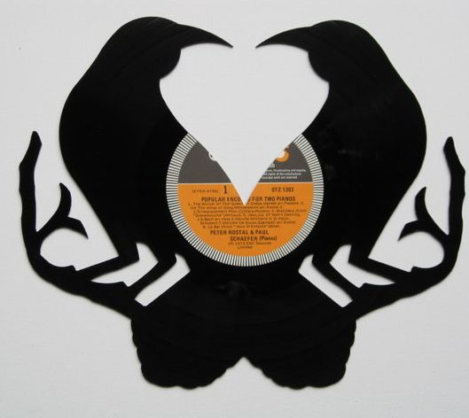 This is a cool website of things to do with them old junk for Things to make with old records