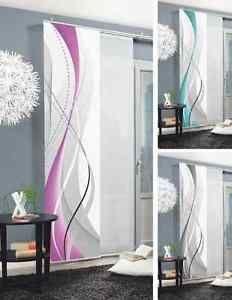 Schiebegardine CARLISLE  Flächenvorhang Schiebevorhang Vorhang Raumteiler | eBay