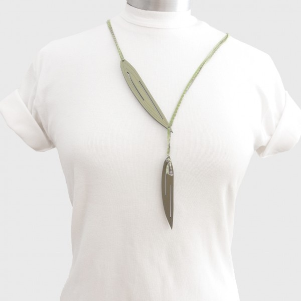 k-boo : Ghika oil-leaves necklace