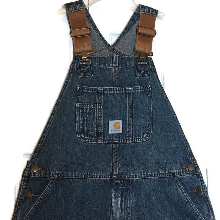 Carhartt Bib Overalls Master Cloth Sanforized Youth 14 Vintage Inspired Zipper   | eBay