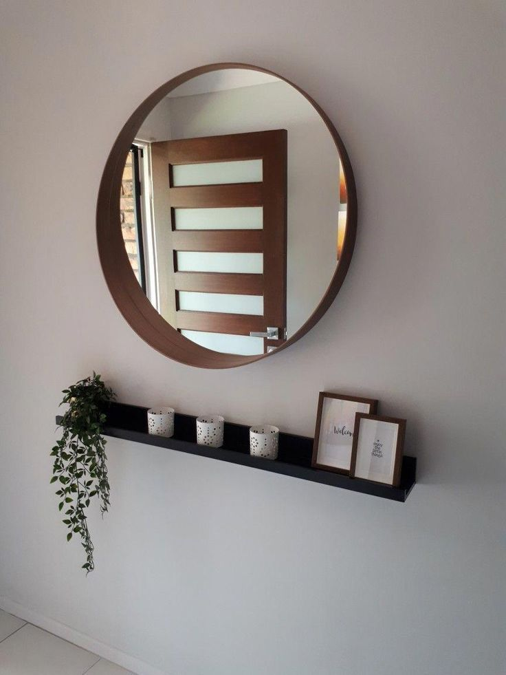 Ikea stockholm mirror and picture frame. #Foyerdecorating