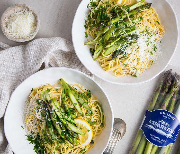 Spaghetti Cabonarra with Leaderbrand asparagus » LeaderBrand New Zealand