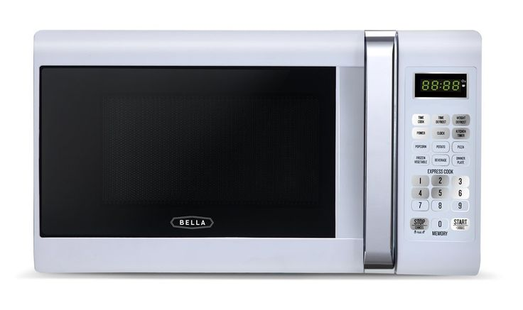Bella 700-Watt Compact Microwave Oven, 0.7 Cubic Feet, White with Chrome *** For more information, visit image link.