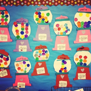 Bruikbaar voor: Deze letters ken ik al!! De kinderen krijgen een kauwgombal met de letter die ze al kennen. Einde van het schooljaar is het gevuld.