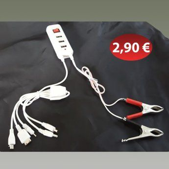 Πολυφορτιστής μπαταρίας αυτοκινήτου σε USB 2,90 €-Ευρω
