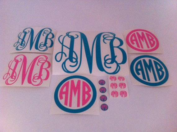 Sampler pack of 16 monogram decals for $20.00. I JUST DIED AND WENT TO HEAVEN