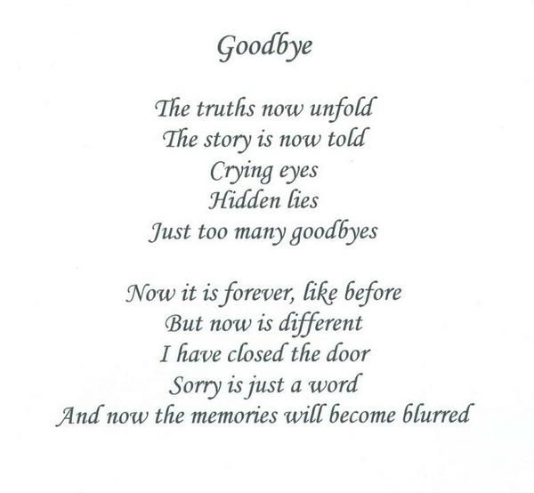 poem for someone moving away