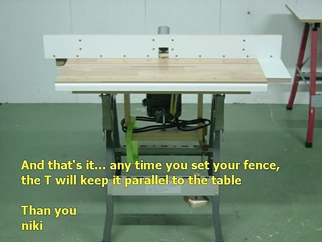 """Router Table Fence by niki -- Homemade router table fence constructed from 3/4"""" plywood and intended to automate the process of setting the fence precisely parallel to the table. http://www.homemadetools.net/homemade-router-table-fence"""