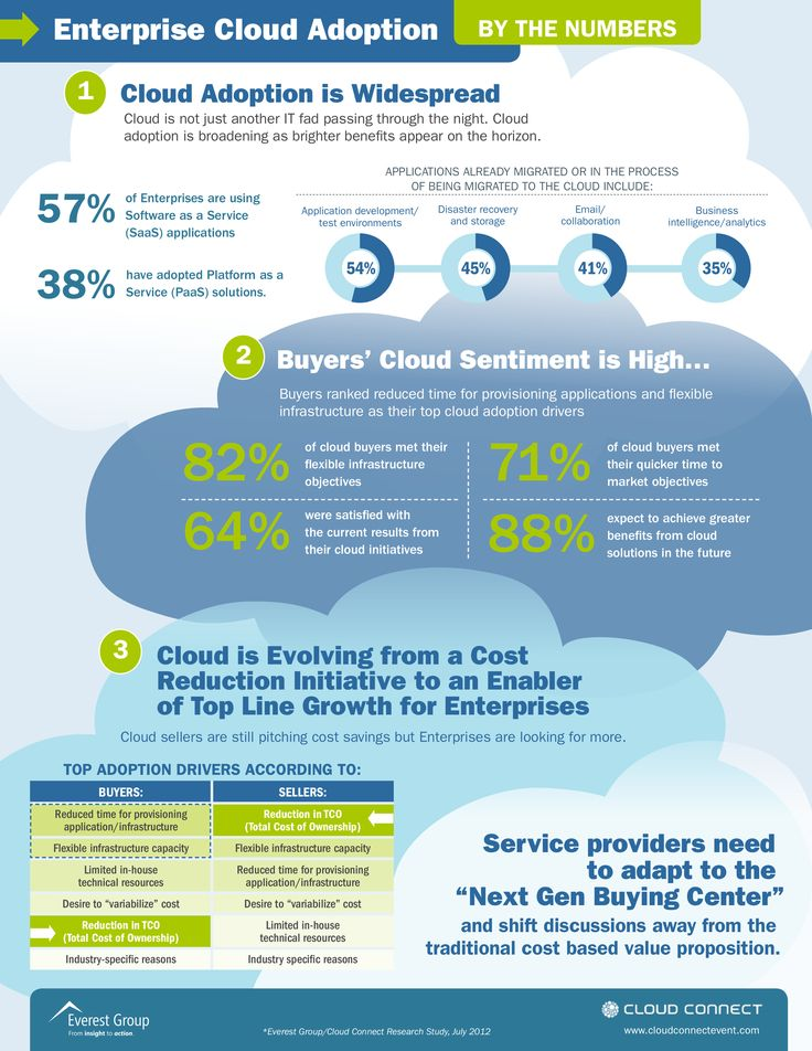 Cloud Infographic Enterprise Cloud Adoption