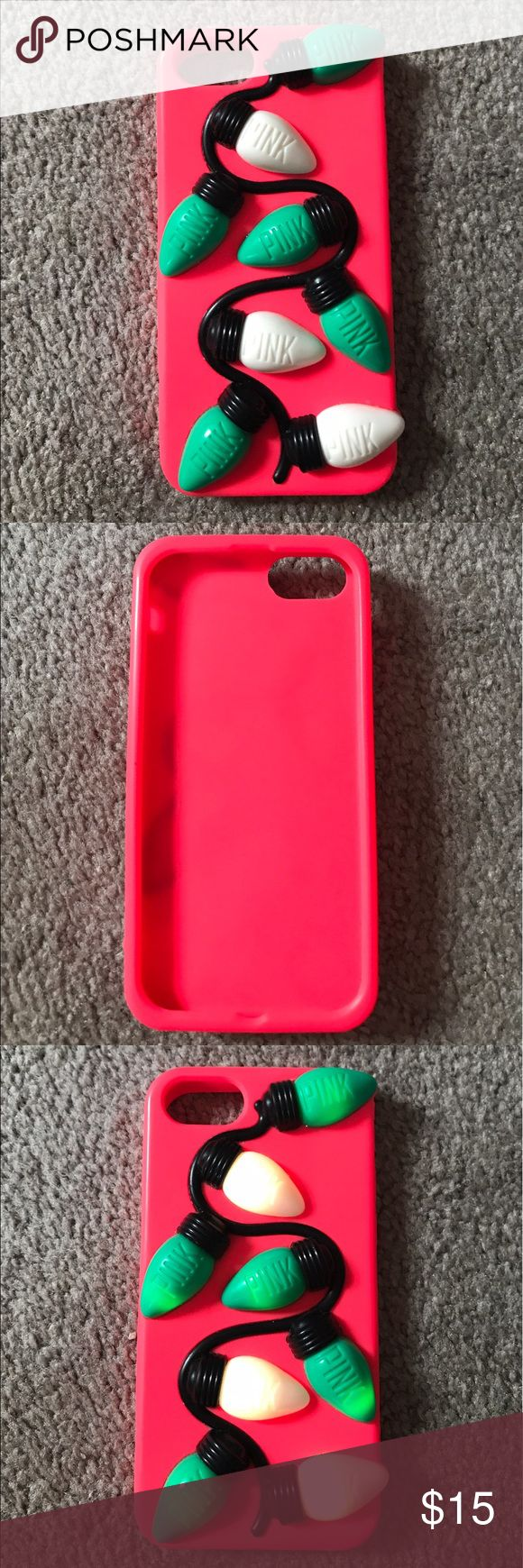 PINK Phone Case Great condition only used on Christmas Eve