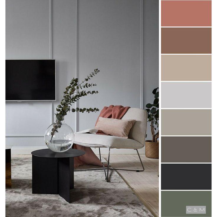 Minimalist Tends To Be Quite Neutral Colours But I Love The Muted Pop Of Colour Cores Interiores Cor Da Sala De Estar Esquemas De Cores Para Um Quarto