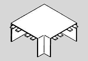 Angle Plat pour Moulure Electrique PVC 10x20 mm