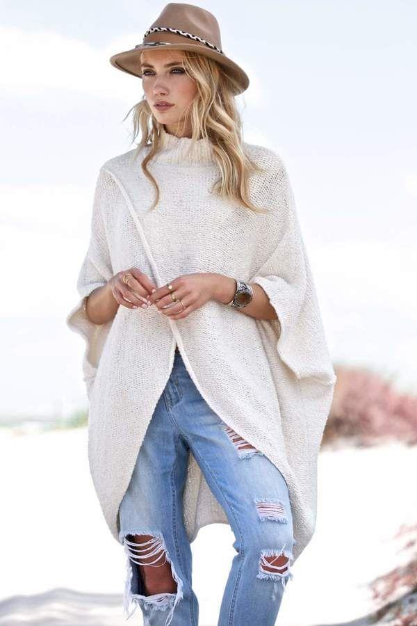 Elan Criss Cross Front Sweater