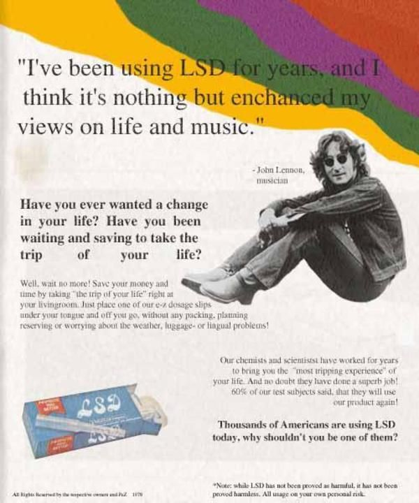 Take a trip of your life, right in your own living room.  John Lennon approved.