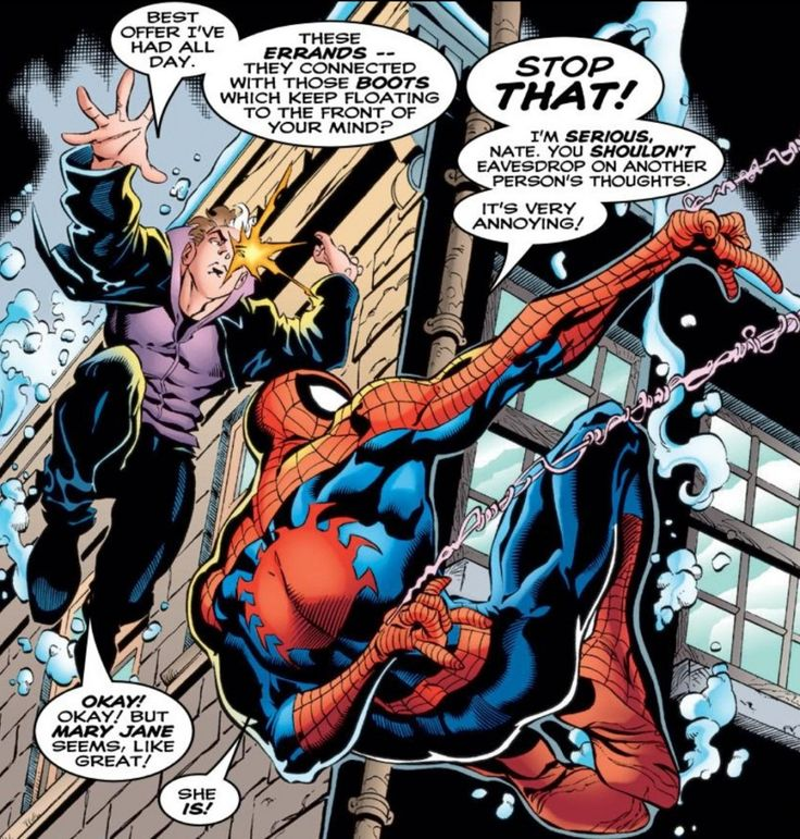 Spider-Man and Nate Grey in Amazing Spider-Man #420