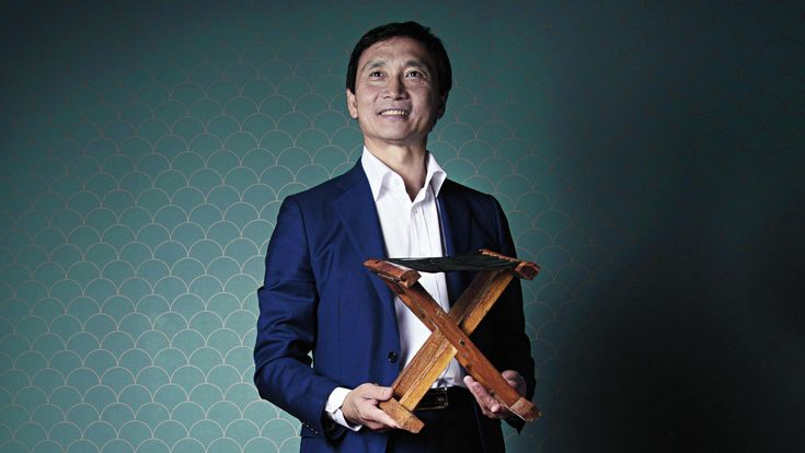 Li Cunxin with his father's stool. Picture: Justine Walpole