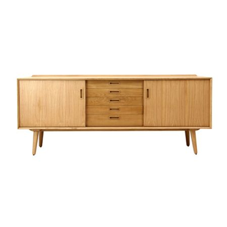 Vavoom's Nordica Buffet - 5 drawers - simply double click to shop online! oak / furniture / buffet / minimalist / wooden furniture / home decor