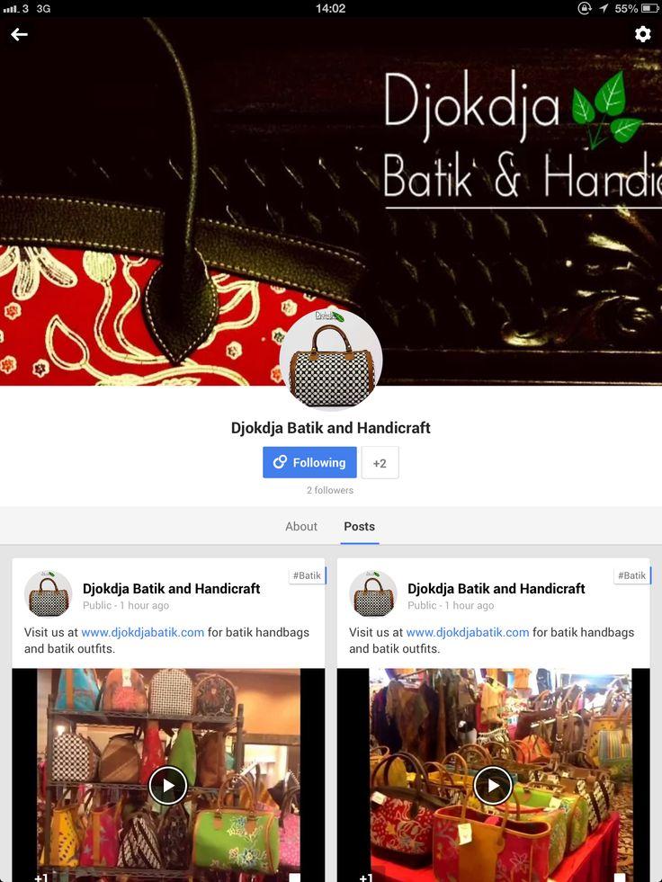 Our Google+ community page is up, follow us for more splendid batik news and offers at plus.google.com/+djokdjabatik