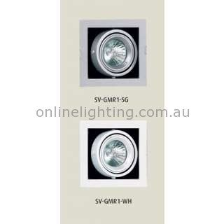 Features Available in Silver grey or White Recessed Gimble Frame Lights T