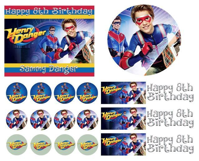 Henry Danger Birthday Cake Frosting Edible Image Toppers