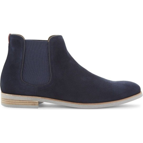 Aldo Ravaldino suede chelsea boots ($120) ❤ liked on Polyvore featuring men's fashion, men's shoes, men's boots, mens suede boots, aldo mens boots, mens suede shoes, mens suede chelsea boots and aldo mens shoes