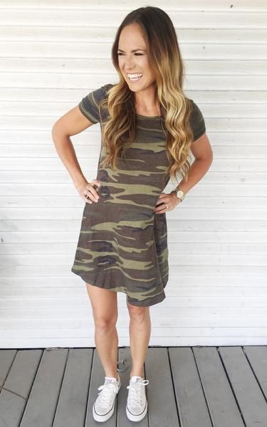 The Jane- casual camo dress