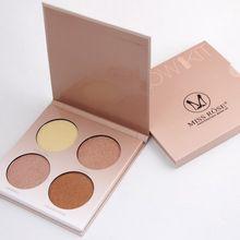 Miss Rose Good Pigmentation 4 Color Eyeshadow Palette Glow Kit abh Makeup Eye Shadow Palette for Women abh cosmetic 7003-024N