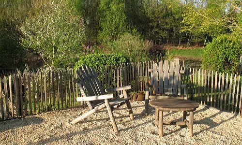 Cl tures ganivelle ou fencing cl ture et treillage de - Treillage bois jardin ...