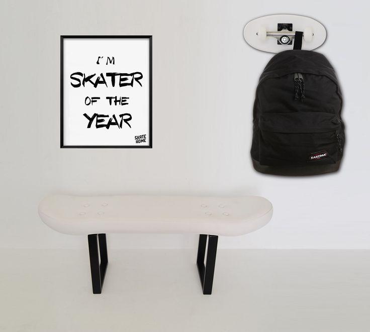 Dekoration Und Möbel Skateboard. Die Einen Raum Verziert Für Ein Haus  Skater. Das