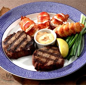 LobsterAnywhere Lazy Man Lobster Dinner. Fresh shucked lobster tails with fork tender center-cut filet mignons. No crackers needed! Delivered overnight. [Lobster Recipes, Lobster, Fresh Seafood, Lobster Tail] https://lobsteranywhere.com/ Live Maine lobster delivery direct from LobsterAnywhere. New England's mail order premium seafood company online since 1999 with ocean fresh and frozen lobster for your business or special event. Guaranteed overnight USA shipping. #Lobster #Recipe #Seafood