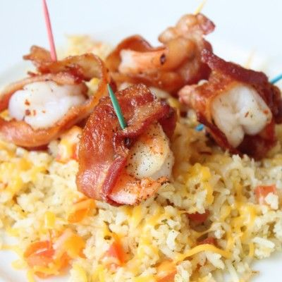 Camarones con Tocino {Bacon-Wrapped Shrimp}