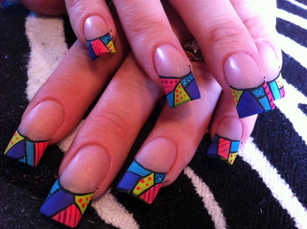 Multicolored-nail tips. <3