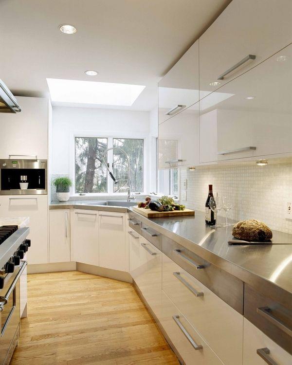 Eckspule Effiziente Und Platzsparende Ideen Fur Die Kuche Moderne Weisse Kuchen Betonkuche Moderne Kuchendesigns