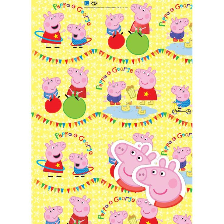 Peppa Pig Gift Wrap & Tags  £1.75