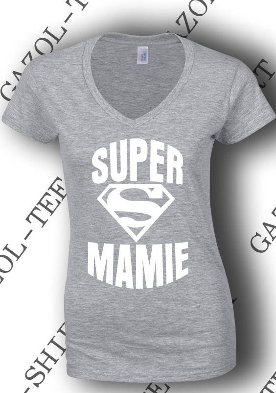 """Tee-shirt """"SUPER MAMIE """" : T-Shirt, debardeurs par gazol-tee-shirt"""