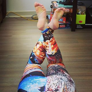 Always got to point your toes, even just hanging around the living room ;) Check out my crabby pants available here: https://society6.com/product/crabby-pants_leggings#s6-6991323p43a56v416