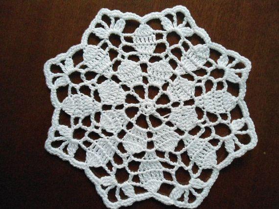 Set of 2 crochet doily white by kroshetmania on Etsy