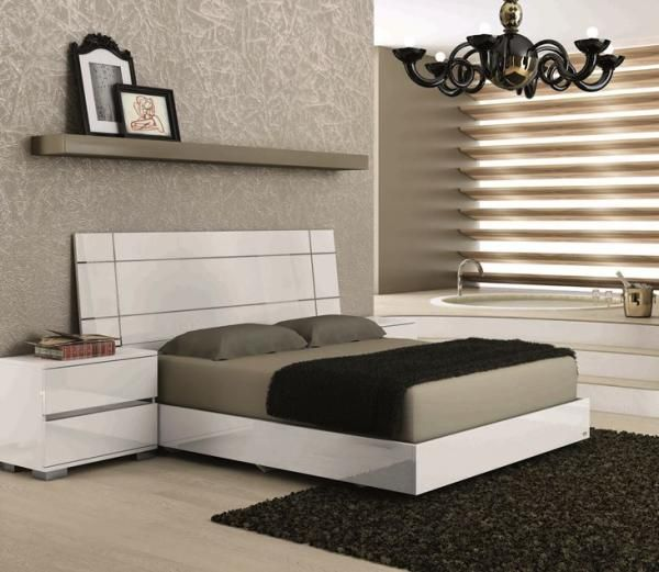 Superb Status Dream Bed White   The Beautiful White Colored Bed Comes With An  Ultra Modern, Stylish Design And A Solid Structure That Will Be A Perfect  Accessory ...