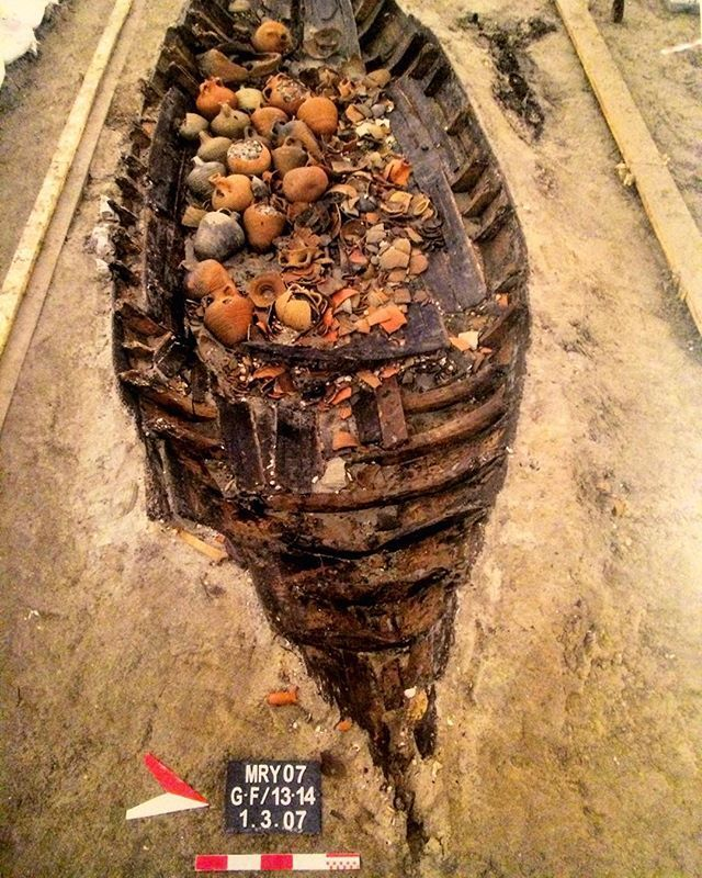 ⛵️Y e n i k a p ı 12 The current size of Yenikapı 12 #wreck discovered at the #Marmaray #excavation zone is 7x2.3m but the vessel is orginially thought to be around 8, 8.5m long and 2.8m wide. The vessel thought to date back to the 9th century sunk together with its payload. The payload of Crimean #amphora is thought to have been full of liquid. Cherry seeds found inside the wicker basket onboard the Yenikapı 12 wreck…