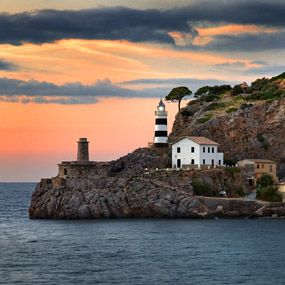 Mallorca Soller Lighthouse, Mallorca, Spain.