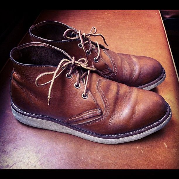 Some really beautiful worn in 3140 Red Wing Shoes Work Chukka's