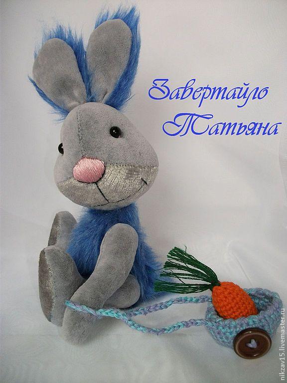 Зайка Скайли - синий,серый,зайка,зая,заяц,зайчик,тедди зайка,заяц тедди