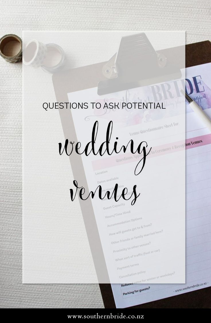 The wedding venue (ceremony site and reception) is the foundation for your wedding celebrations. Pick a site that fits you and your budget + use a checklist