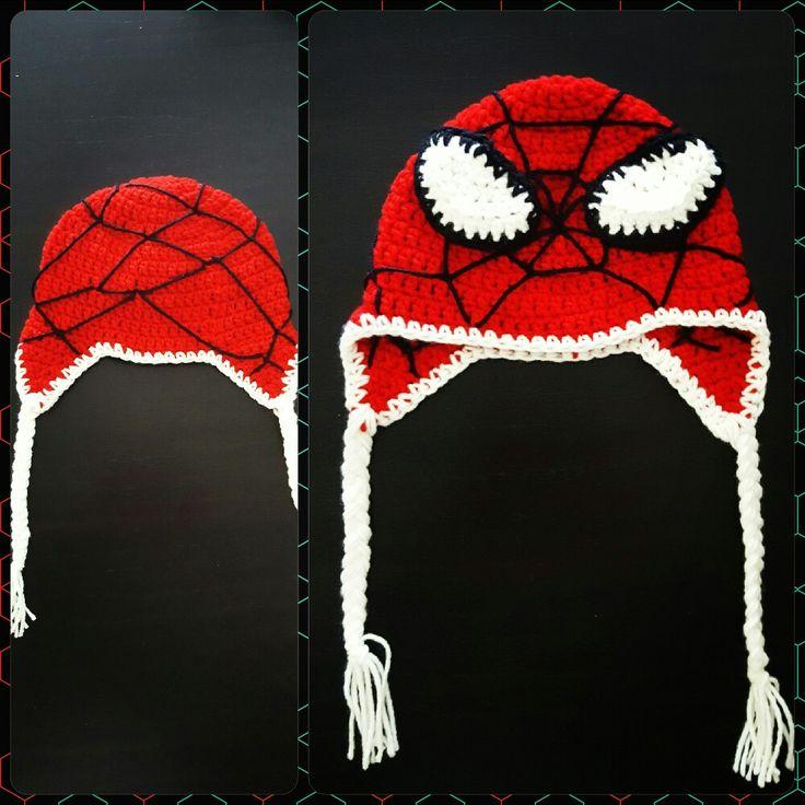 Gorro tejido a crochet - SPIDERMAN T: 12 meses