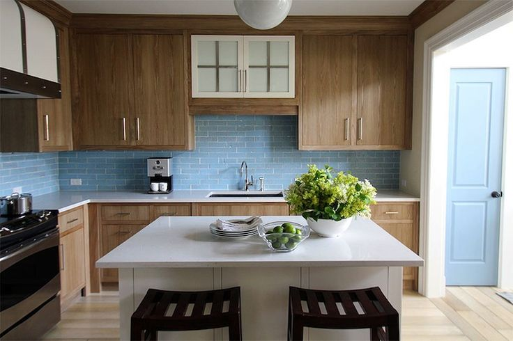 17 Best Images About Kitchen Pix On Pinterest White Quartz Wood Cabinets And Small Kitchens