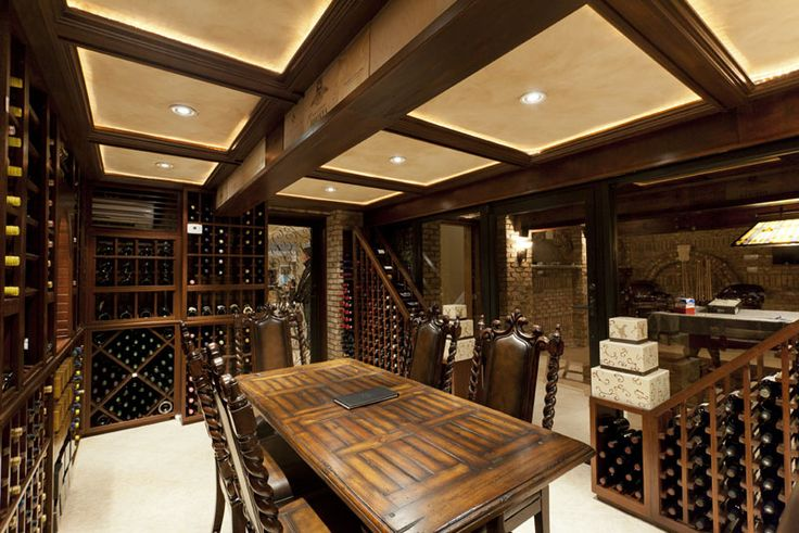 133 best images about lovely wine cellar on pinterest for Luxury home wine cellars