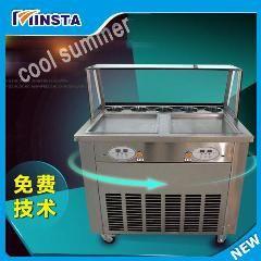 [ $190 OFF ] 110V 220V Flat Pan Freezing Ice Cream Machine Frying Ice Cream Machine Fried Ice Cream Roll Machine