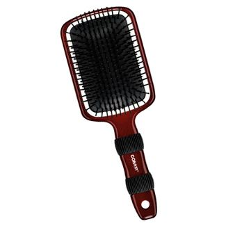 The Mega Ceramic Paddle Brush is designed to gently detangle wet or dry hair. Great for everyday brushing. The Ceramic coated rim smoothes hair and leaves it shining.