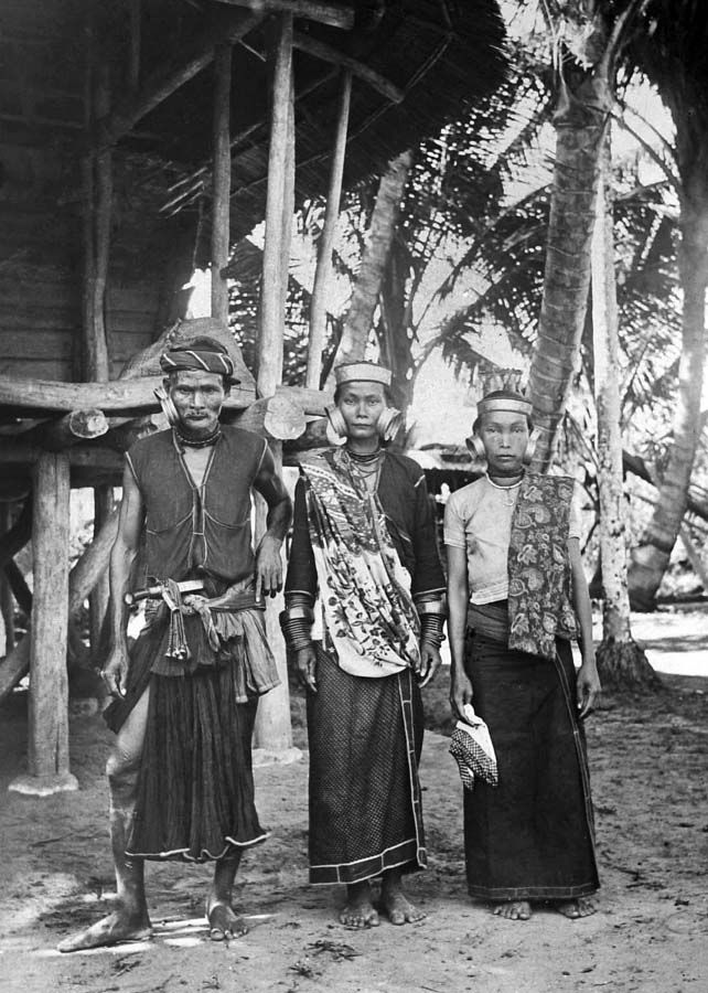 Images from the past; a North Nias family over hundred years ago. North Nias Regency, Nias Island, Indonesia. www.northniastourism.com