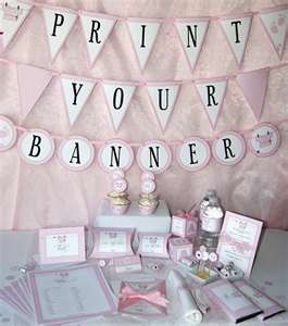Baby Shower Printables - Baby Girl Pink - DIY Party Supplies and ...